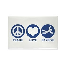 Peace Love Skydive Rectangle Magnet