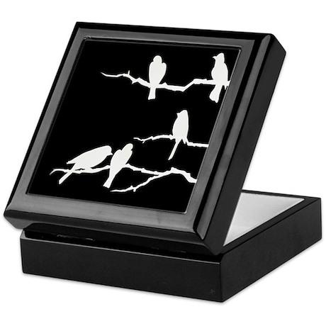 White Bird Silhouette Keepsake Box