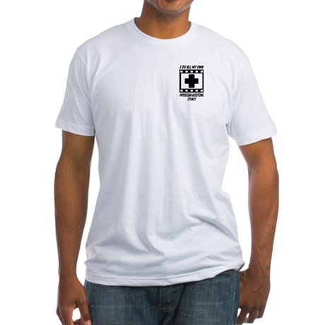 Physician Assisting Stunts Fitted T-Shirt