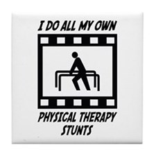 Physical Therapy Stunts Tile Coaster