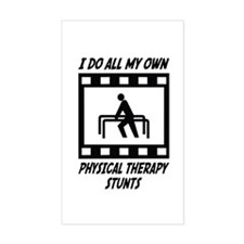 Physical Therapy Stunts Rectangle Decal