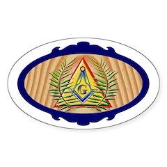 Masonic Acacia Pyramid Oval Decal