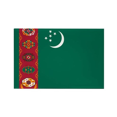 Flag of Turkmenistan Rectangle Magnet (100 pack)