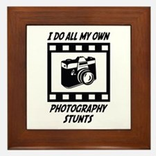 Photography Stunts Framed Tile