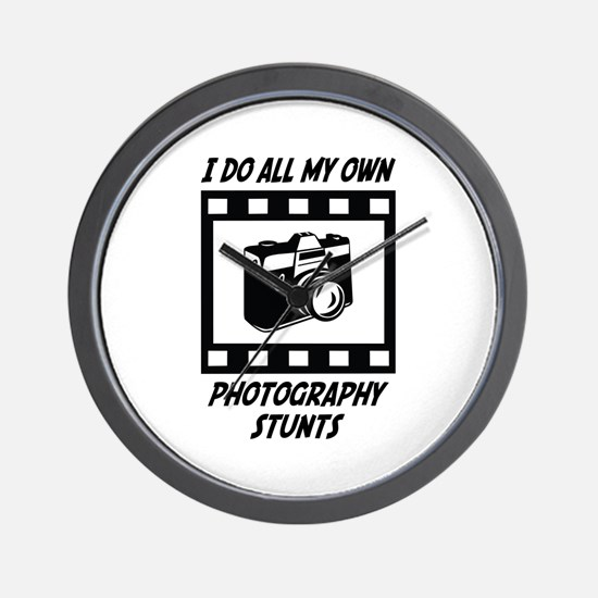 Photography Stunts Wall Clock