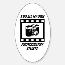 Photography Stunts Oval Decal
