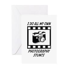 Photography Stunts Greeting Card