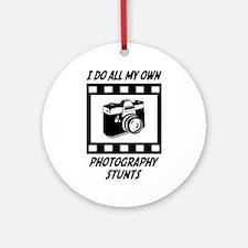 Photography Stunts Ornament (Round)