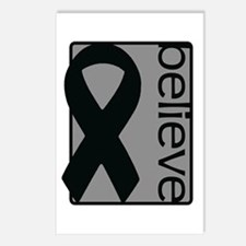 Gray (Believe) Ribbon Postcards (Package of 8)