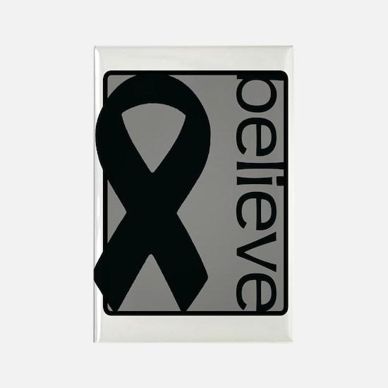 Gray (Believe) Ribbon Rectangle Magnet