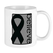 Gray (Believe) Ribbon Mug