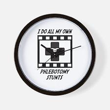 Phlebotomy Stunts Wall Clock