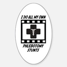 Phlebotomy Stunts Oval Decal