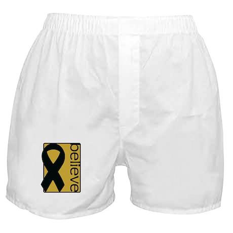 Gold (Believe) Ribbon Boxer Shorts