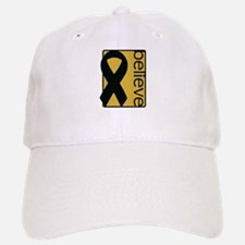 Gold (Believe) Ribbon Baseball Baseball Cap