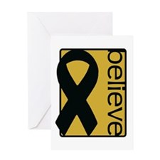 Gold (Believe) Ribbon Greeting Card