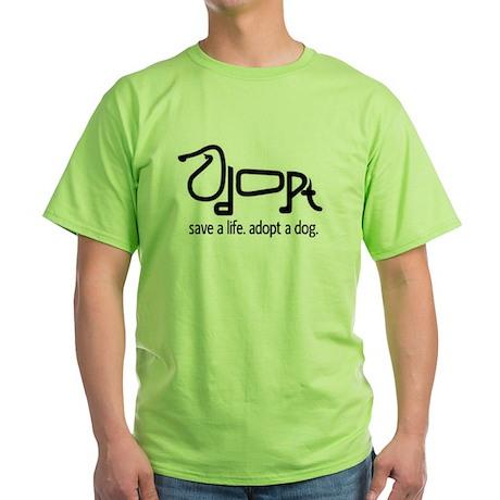 Adopt a Dog Green T-Shirt
