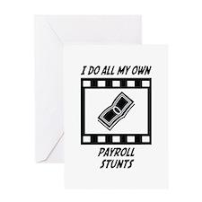 Payroll Stunts Greeting Card
