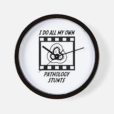 Pathology Stunts Wall Clock