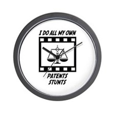 Patents Stunts Wall Clock