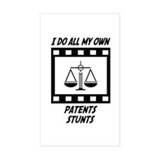 Patents Stunts Rectangle Decal