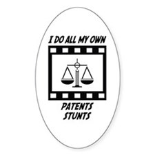 Patents Stunts Oval Decal
