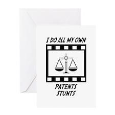 Patents Stunts Greeting Card