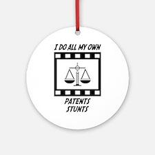 Patents Stunts Ornament (Round)