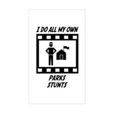 Parks Stunts Rectangle Decal