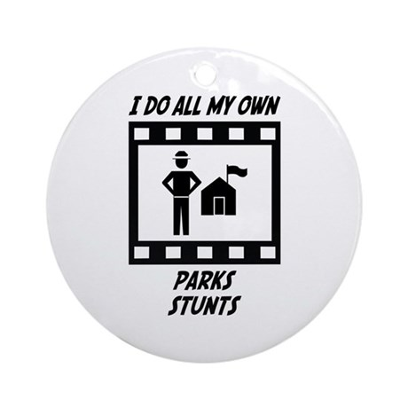Parks Stunts Ornament (Round)