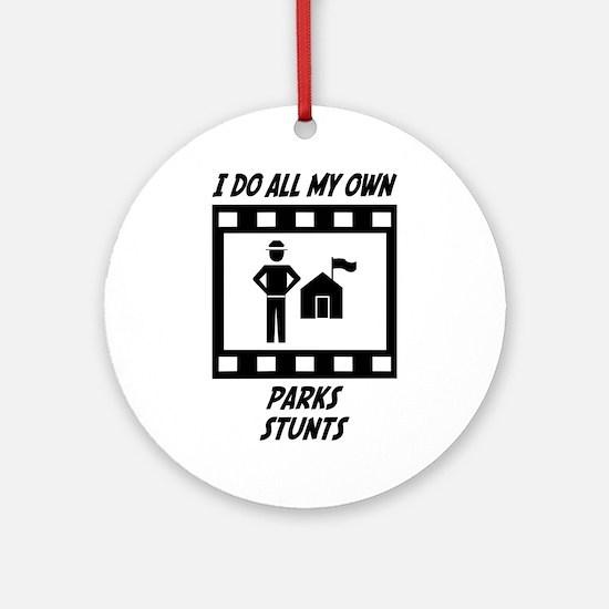 Parks Stunts Ornament (Round)
