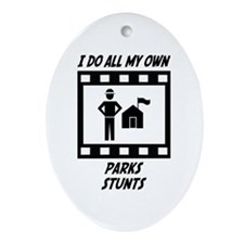 Parks Stunts Oval Ornament