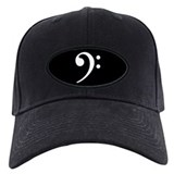 Bass clef Baseball Cap with Patch