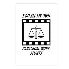 Paralegal Work Stunts Postcards (Package of 8)