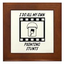 Painting Stunts Framed Tile