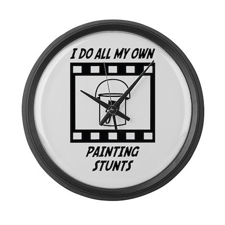 Painting Stunts Large Wall Clock