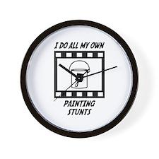 Painting Stunts Wall Clock