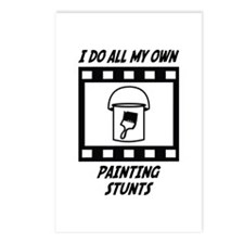 Painting Stunts Postcards (Package of 8)