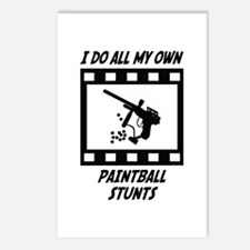Paintball Stunts Postcards (Package of 8)