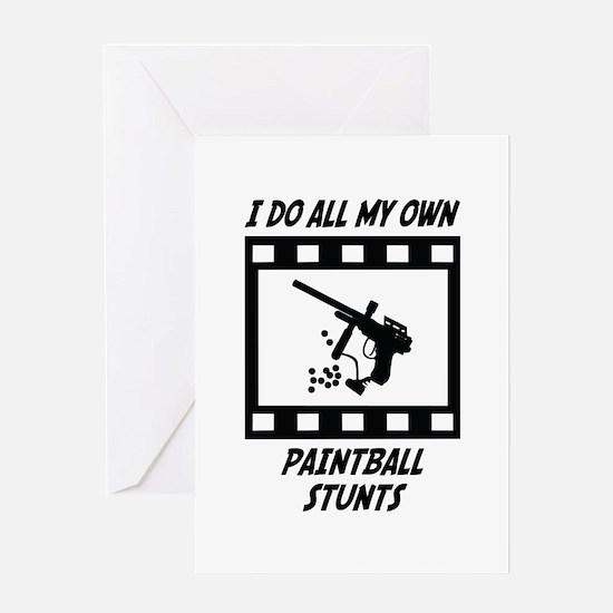 Paintball Stunts Greeting Card