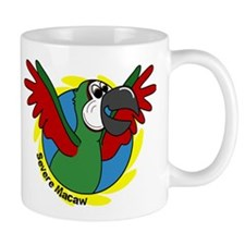 Cartoon Bird Severe Macaw Mug