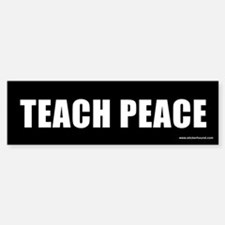 Teach Peach Bumper Bumper Bumper Sticker