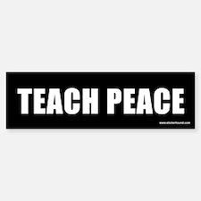 Teach Peach Bumper Car Car Sticker