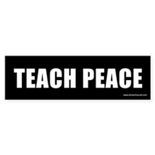 Teach Peach Bumper Car Sticker