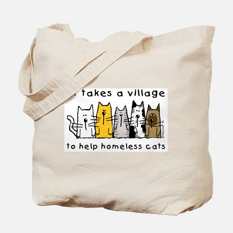 Takes a Village, Feral Cats Tote Bag