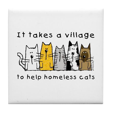 Takes a Village, Feral Cats Tile Coaster