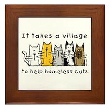 Takes a Village, Feral Cats Framed Tile