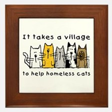 Takes a Village, Feral Cats Framed Tile