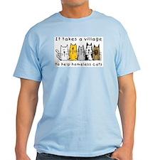 Takes a Village, Feral Cats T-Shirt
