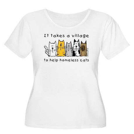 Feral Cats Women's Plus Size Scoop Neck T-Shirt